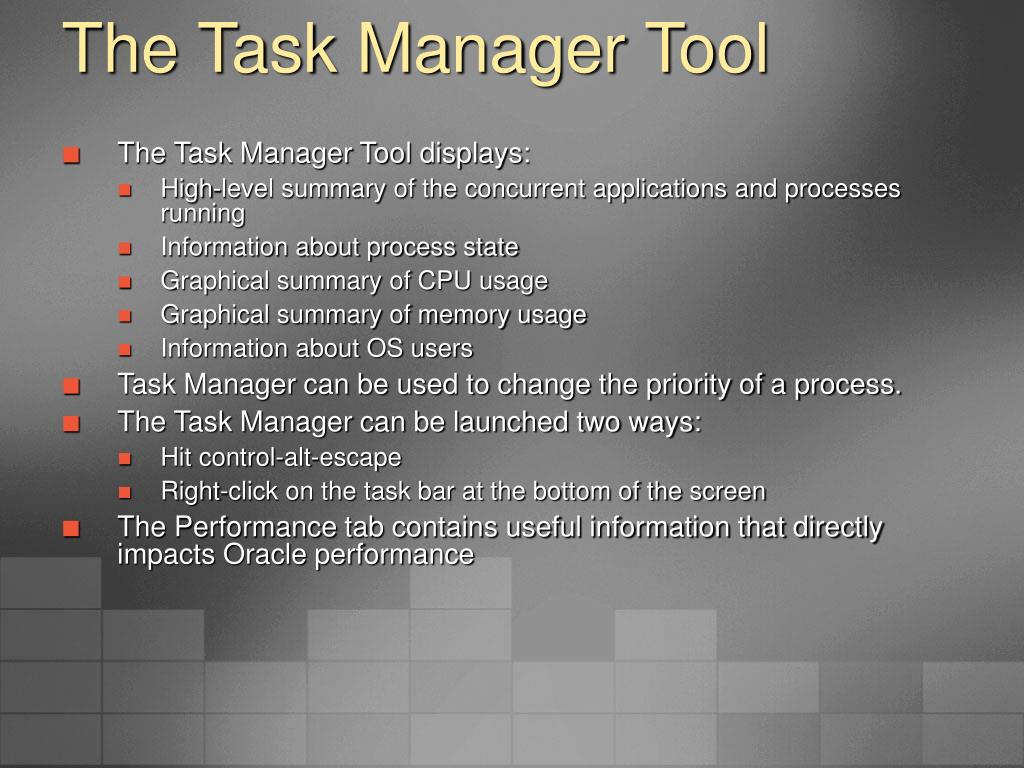 The Task Manager Tool