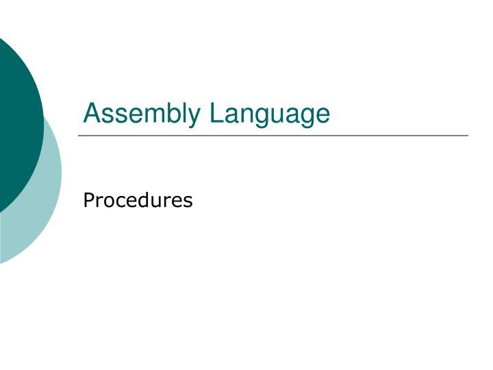 Assembly language l.jpg