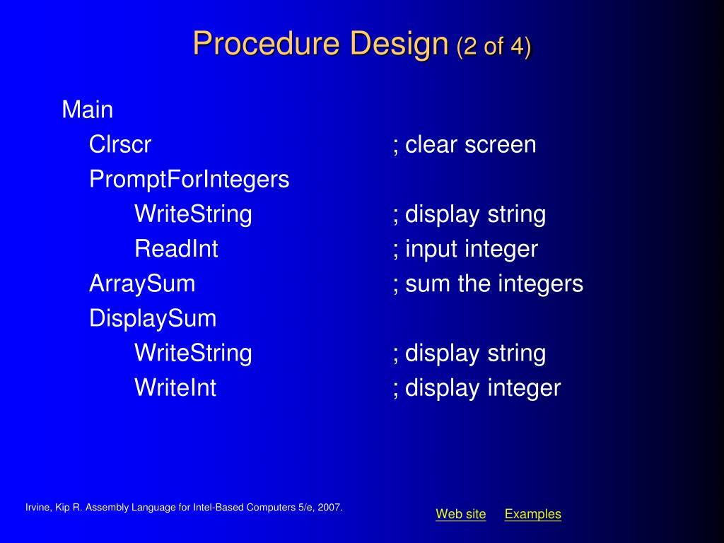 Procedure Design