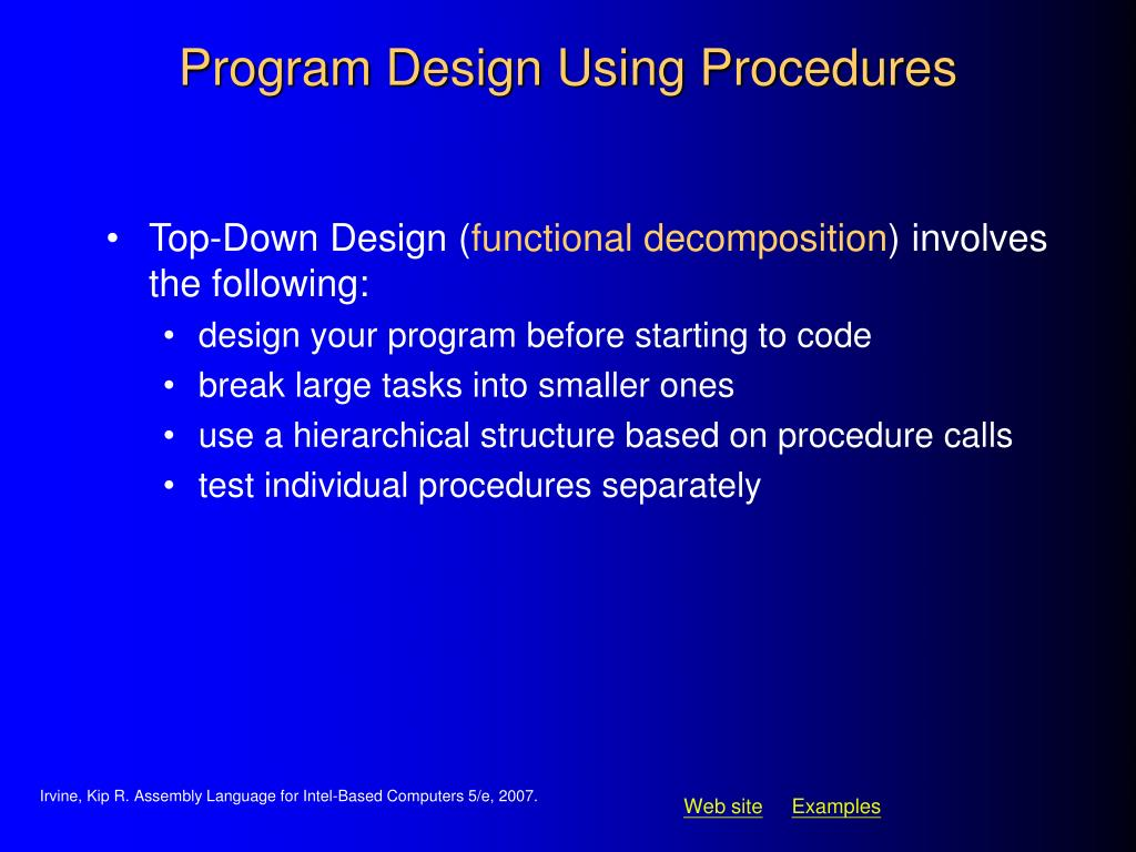 Program Design Using Procedures