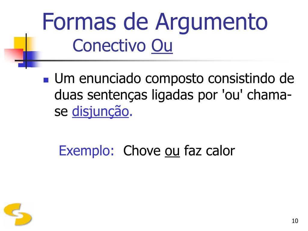 Formas de Argumento