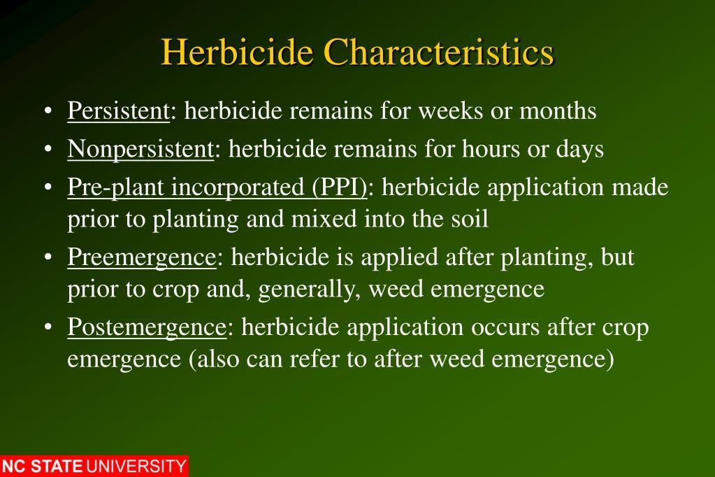 Herbicide Characteristics