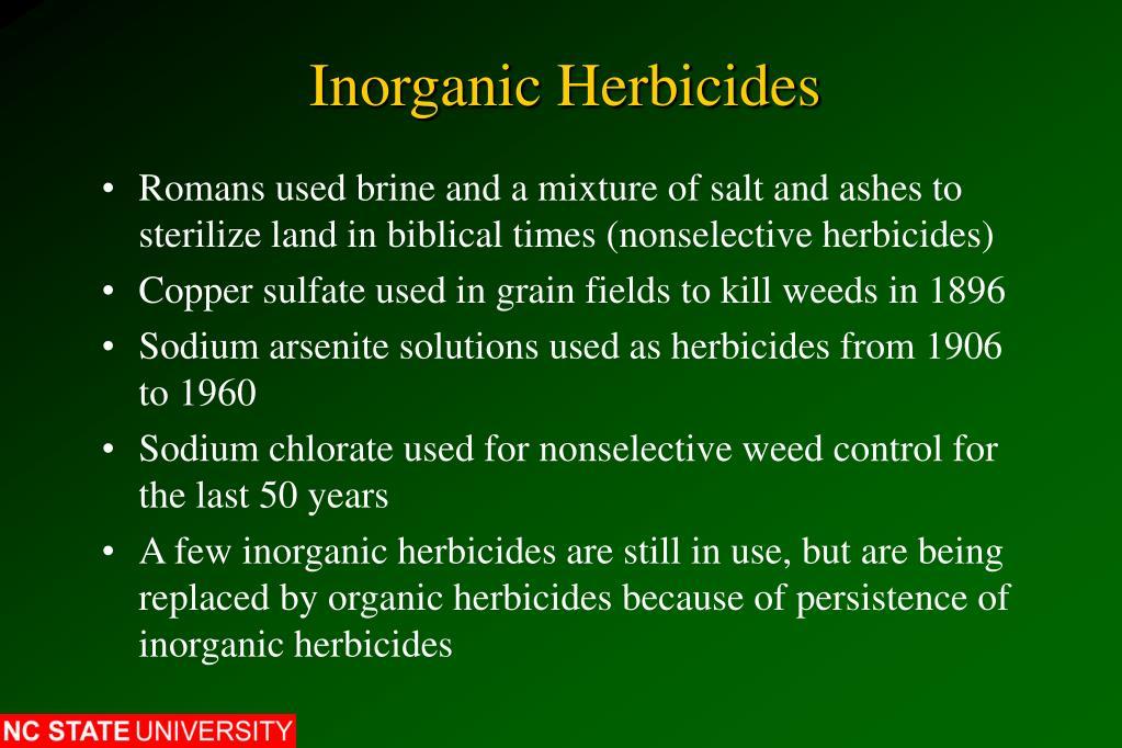 Inorganic Herbicides