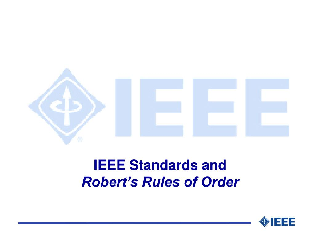 IEEE Standards and
