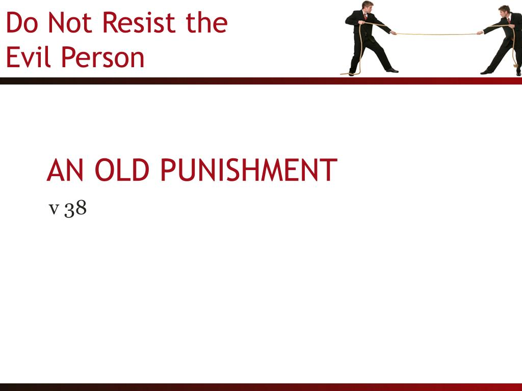 AN OLD PUNISHMENT