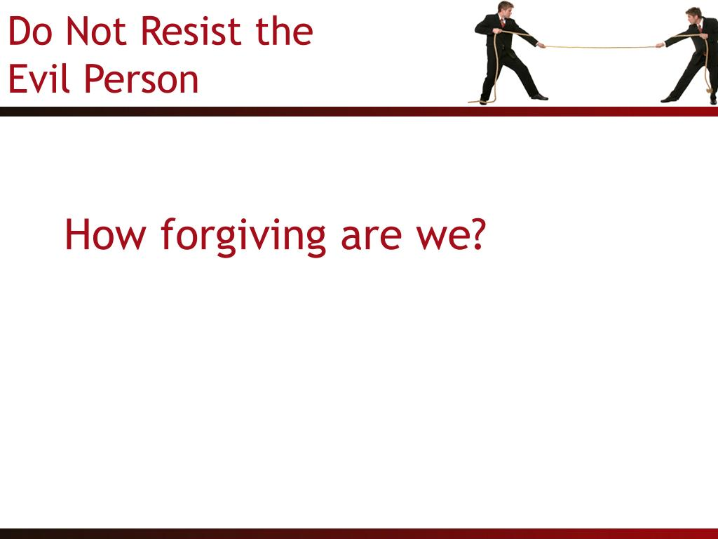 How forgiving are we?