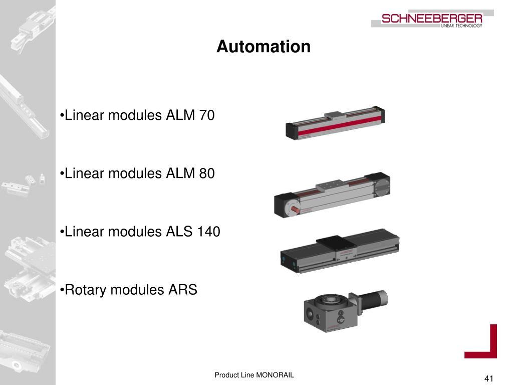 Linear modules ALM 70