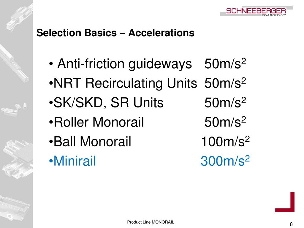 Selection Basics – Accelerations