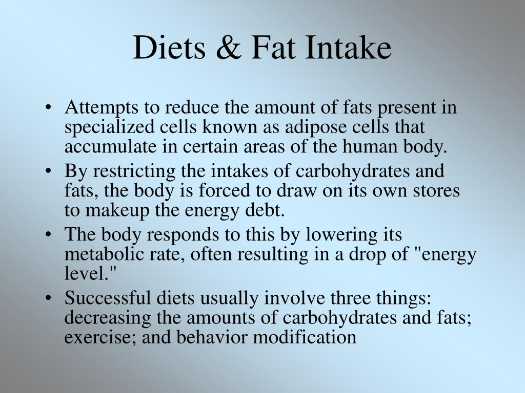 Diets & Fat Intake