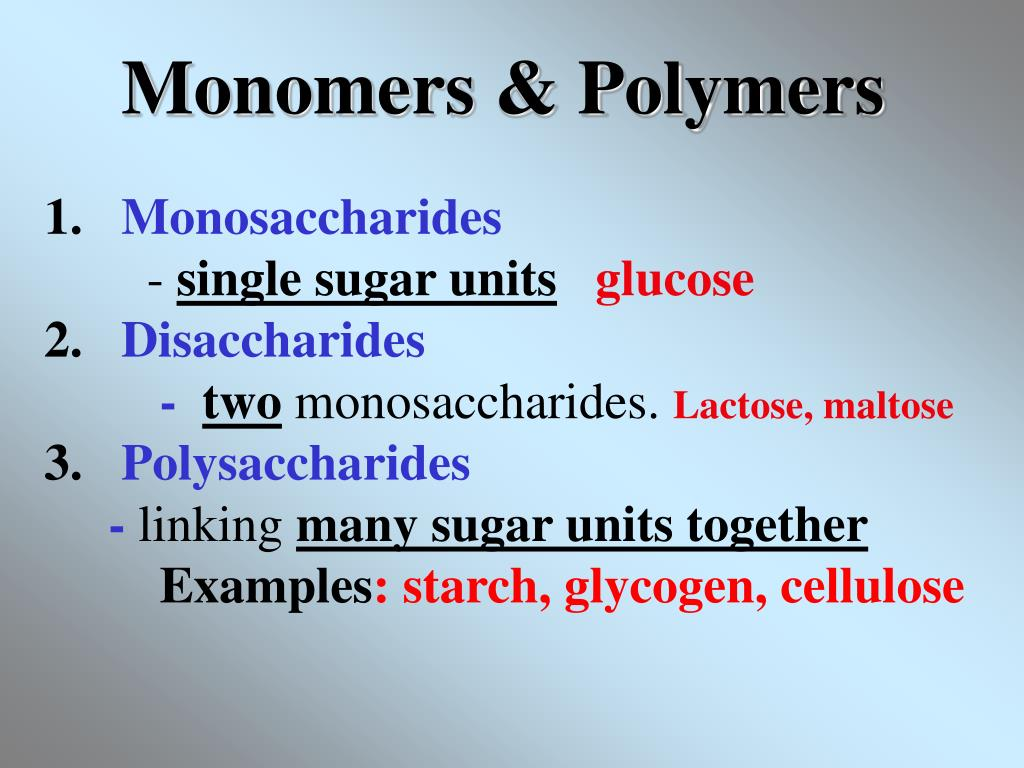 Monomers & Polymers