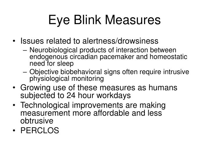 Eye Blink Measures