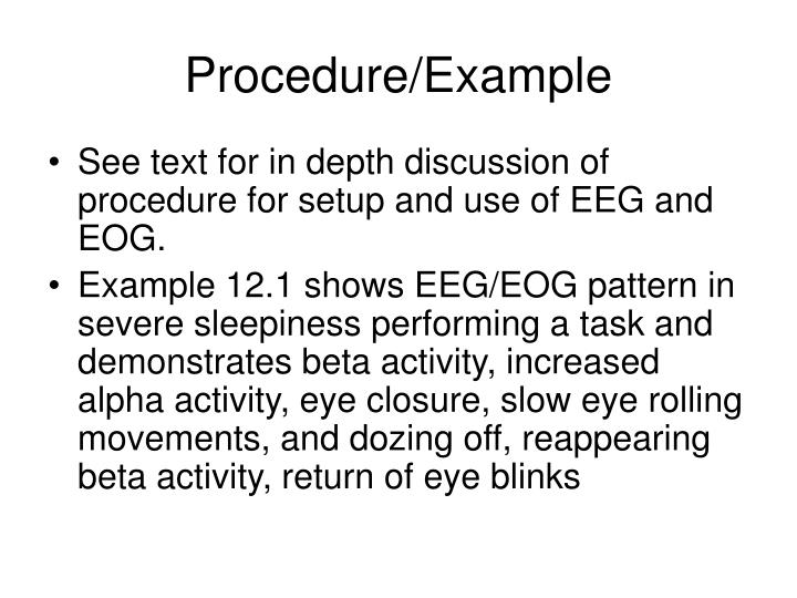 Procedure/Example