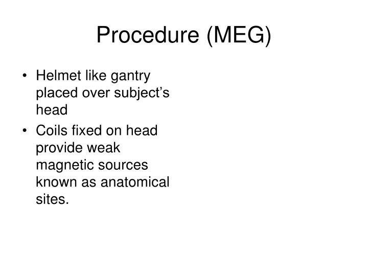 Procedure (MEG)