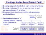 creating a module based product family