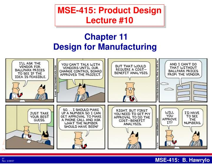 MSE-415: Product Design