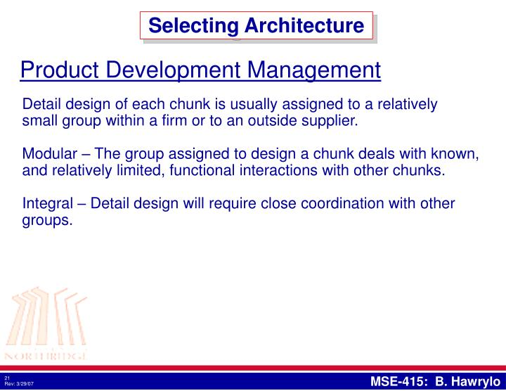Selecting Architecture