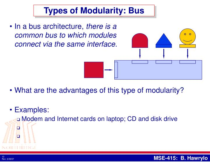 Types of Modularity: Bus