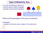 types of modularity bus