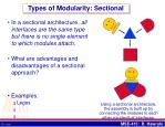 types of modularity sectional