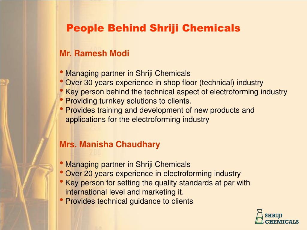 People Behind Shriji Chemicals