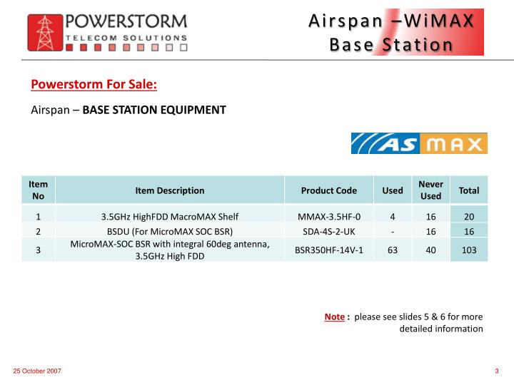 Airspan wimax base station