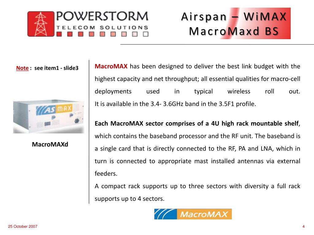 Airspan – WiMAX MacroMaxd BS