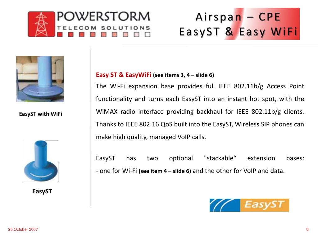Airspan – CPE   EasyST & Easy WiFi