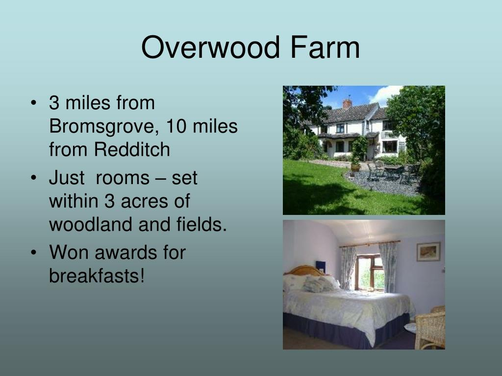 3 miles from Bromsgrove, 10 miles from Redditch