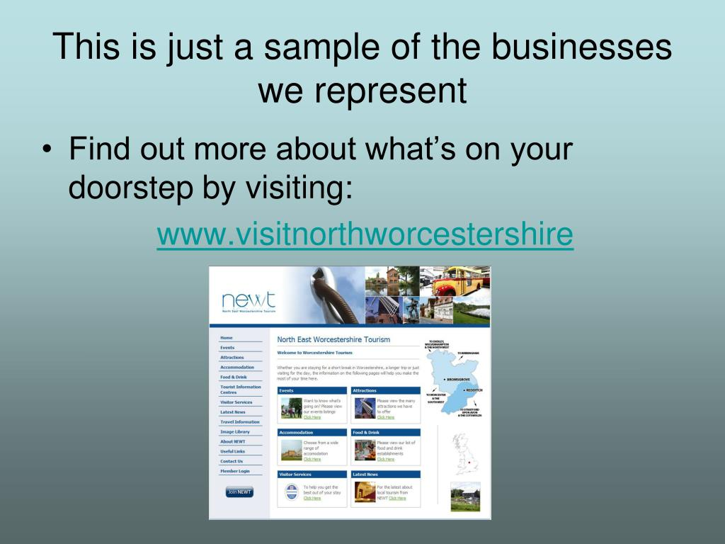 This is just a sample of the businesses we represent