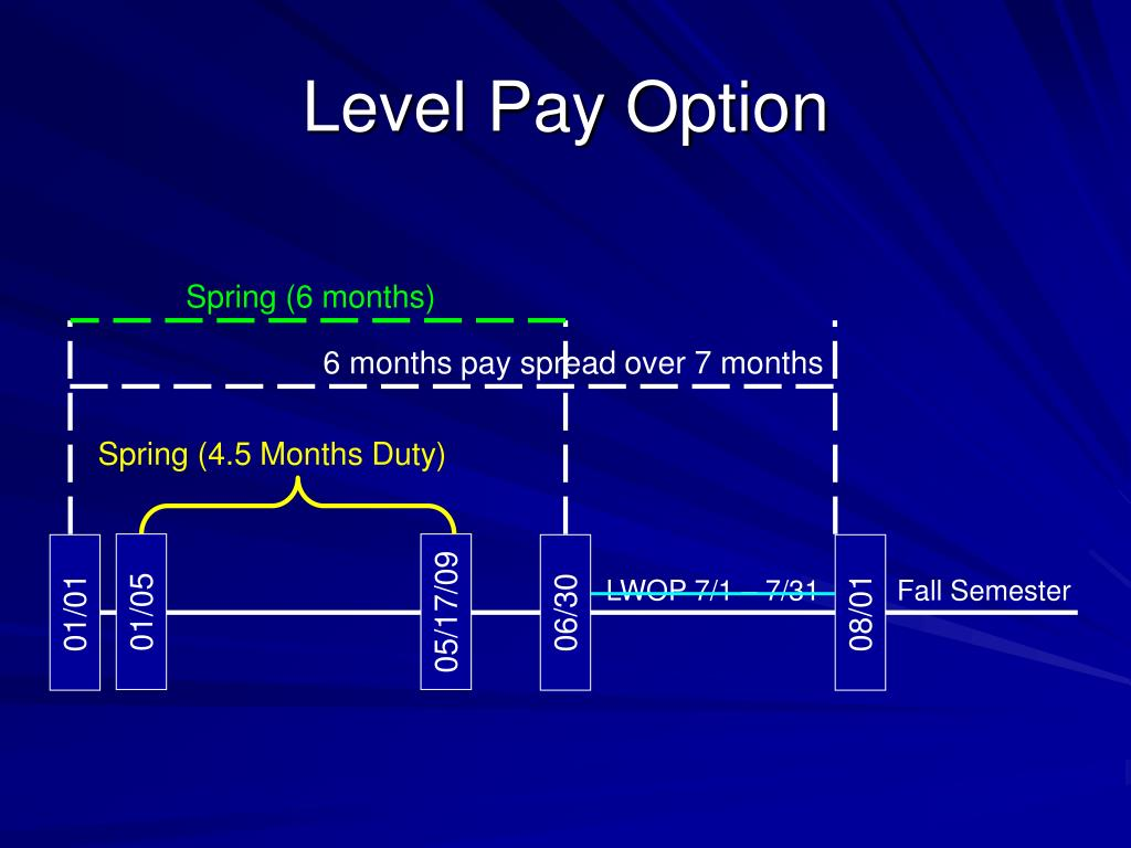 Level Pay Option