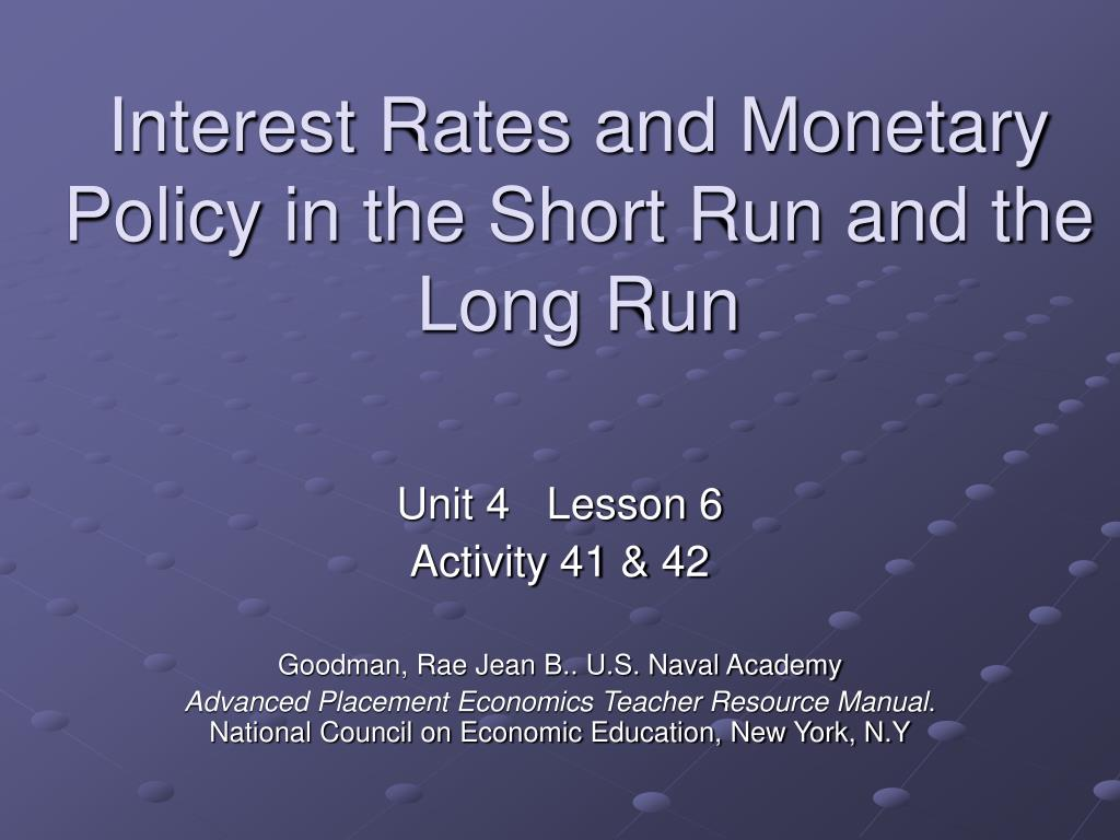 the relationship between interest rate and monetary policy
