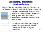 conductors insulators semiconductors