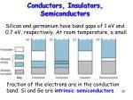 conductors insulators semiconductors20