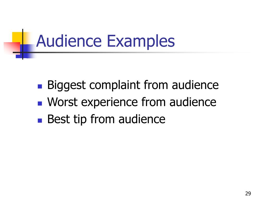 Audience Examples