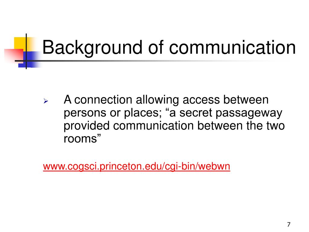 Background of communication
