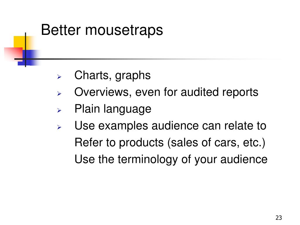 Better mousetraps