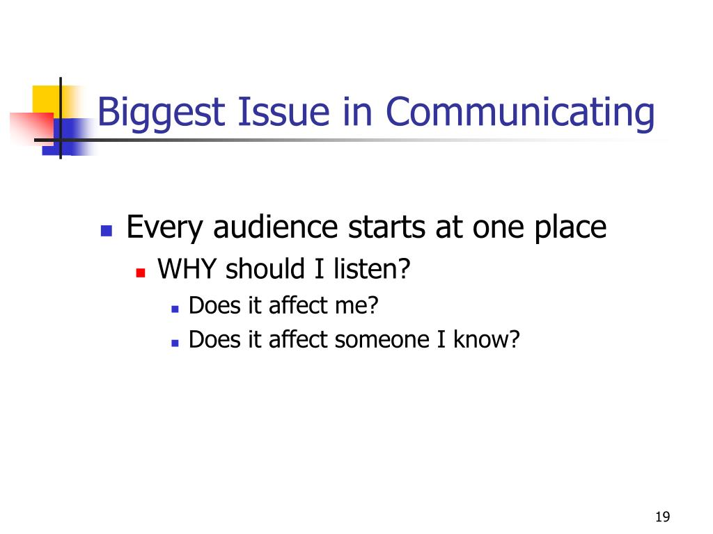 Biggest Issue in Communicating