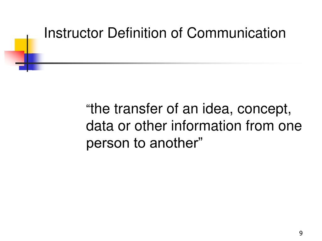 Instructor Definition of Communication