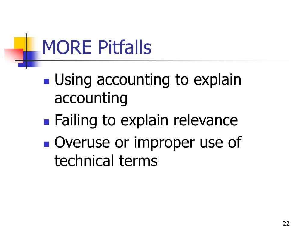 MORE Pitfalls