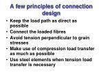 a few principles of connection design