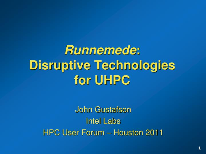 Runnemede disruptive technologies for uhpc l.jpg