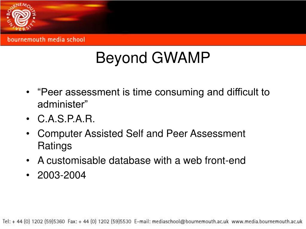 """Peer assessment is time consuming and difficult to administer"""