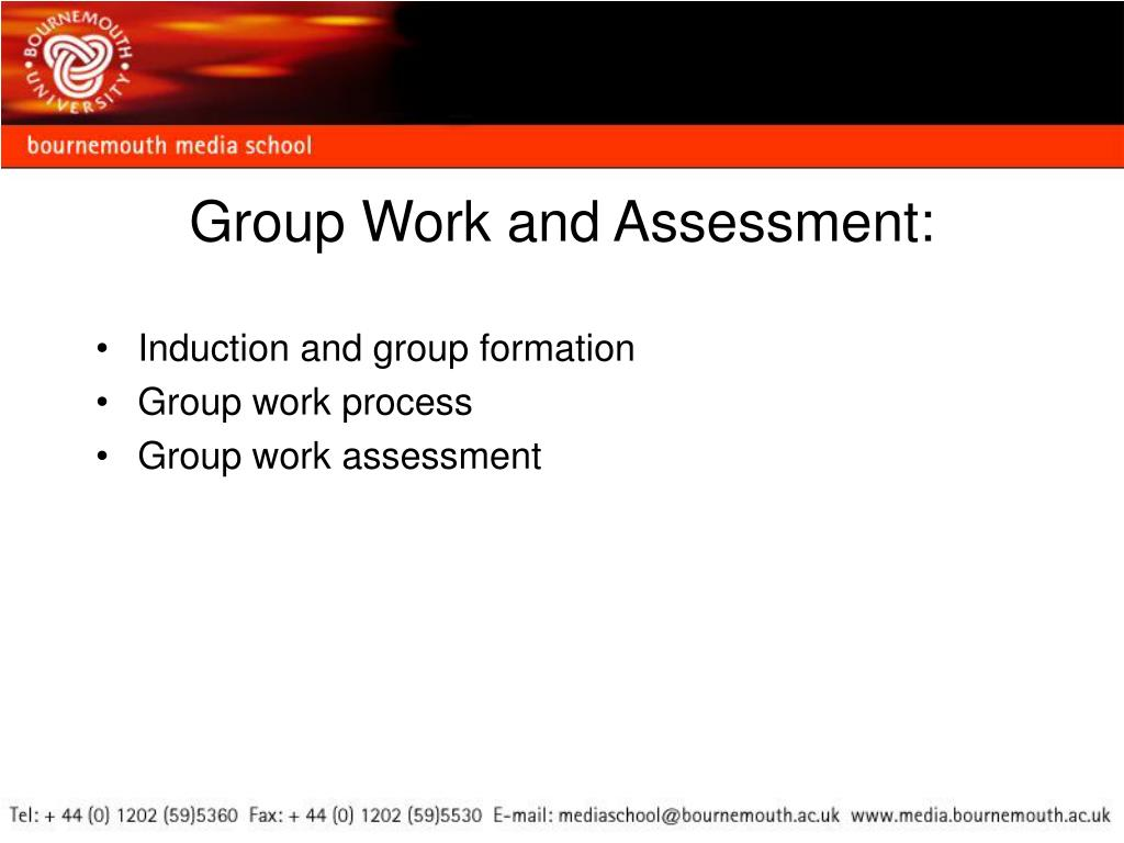 Group Work and Assessment: