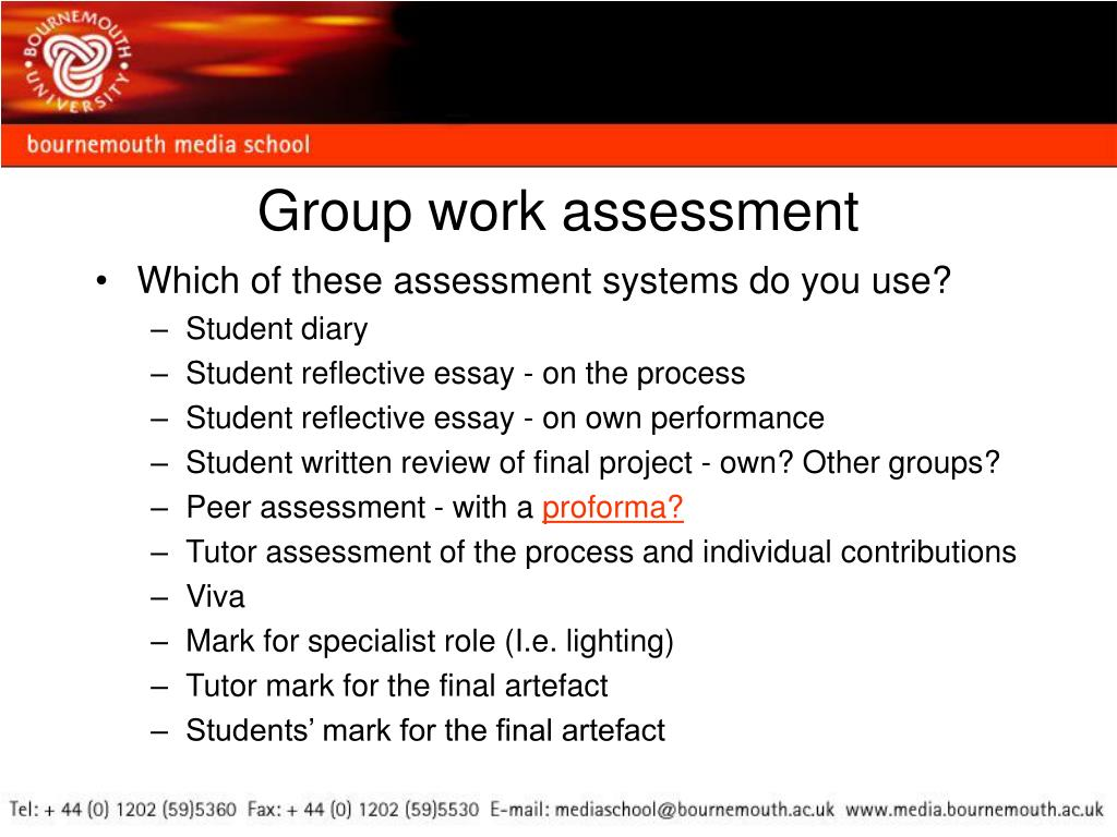 Group work assessment
