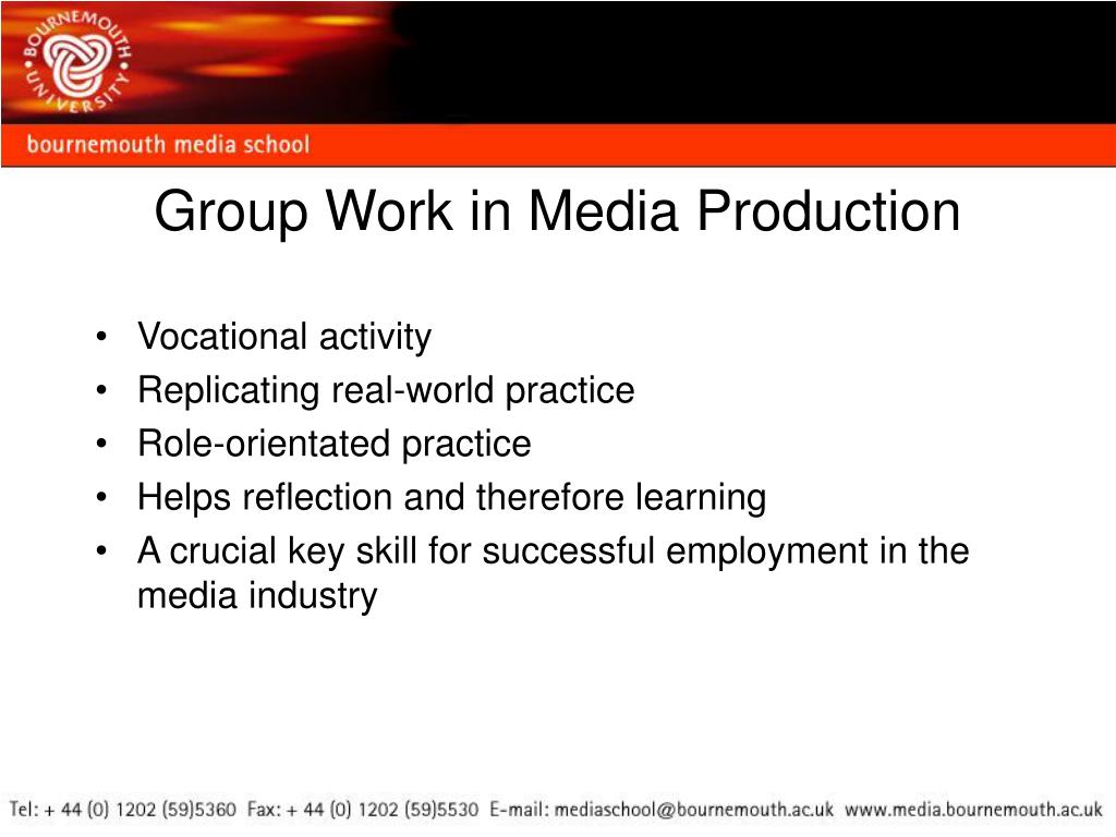 Group Work in Media Production
