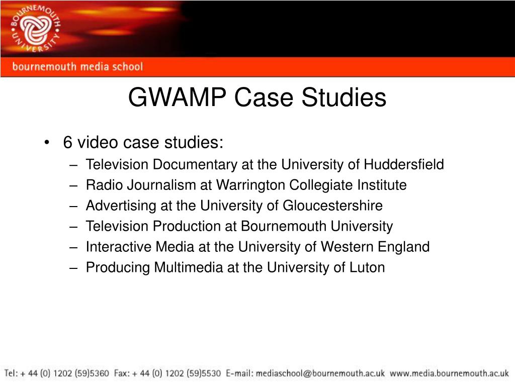 GWAMP Case Studies