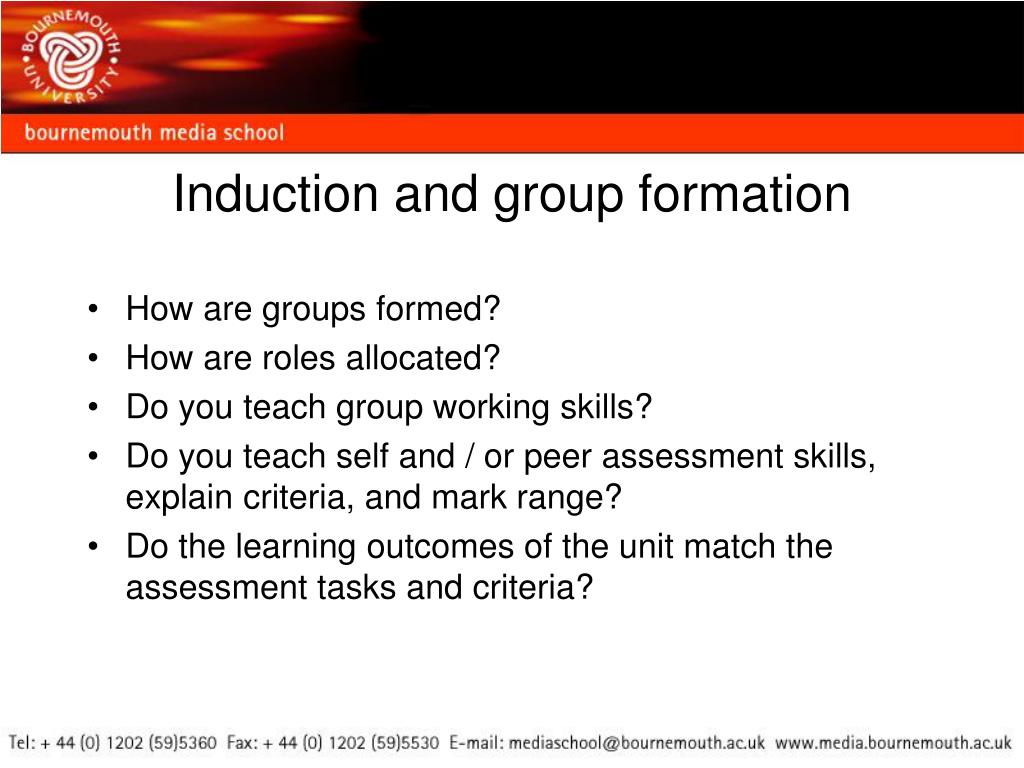 Induction and group formation