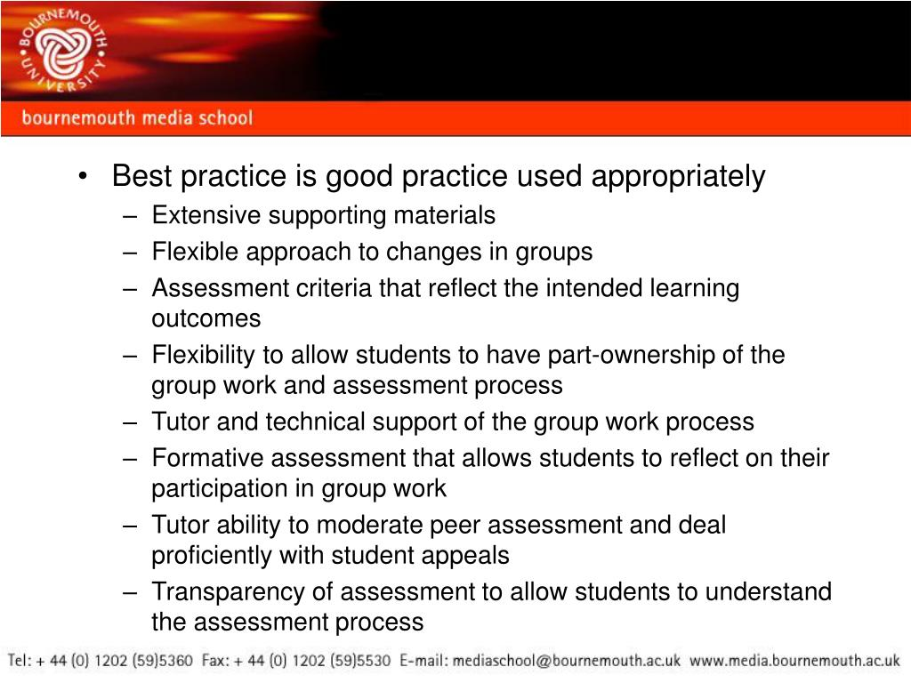 Best practice is good practice used appropriately