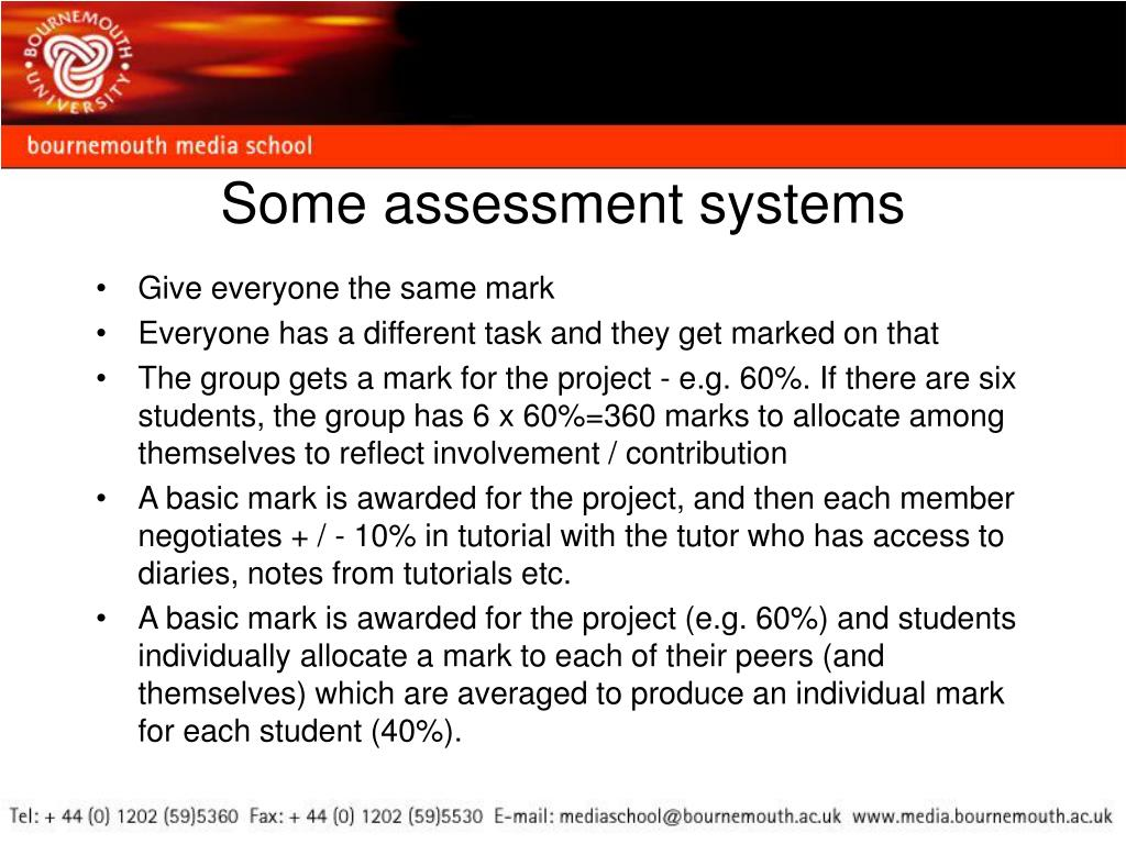 Some assessment systems