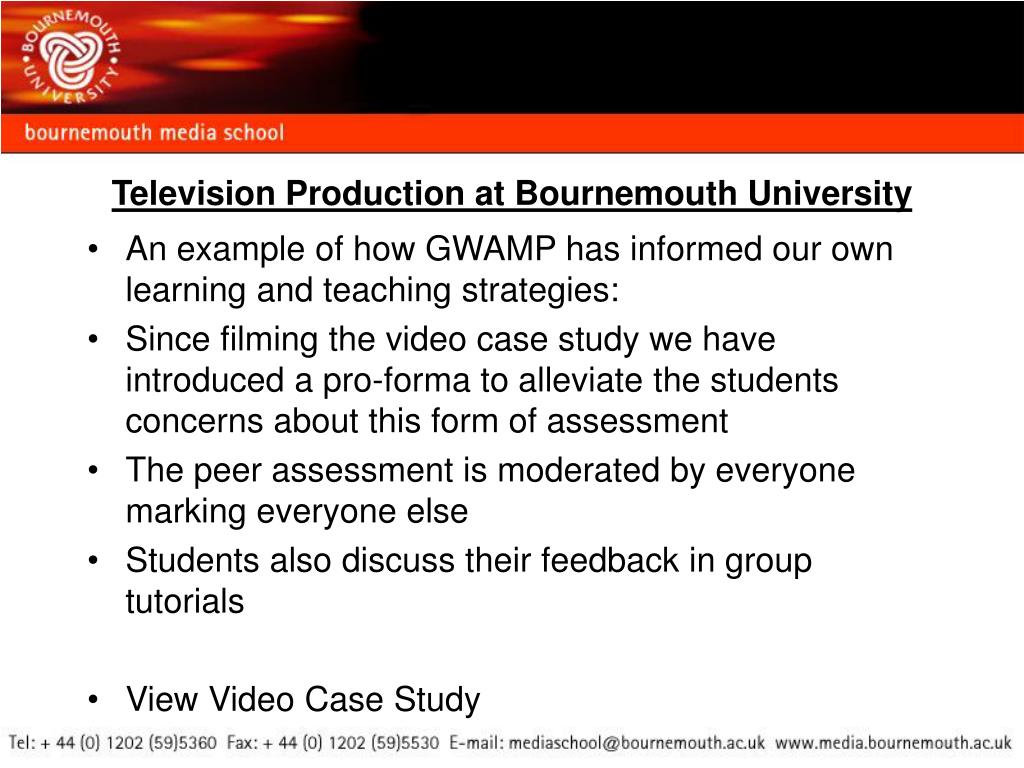 Television Production at Bournemouth University